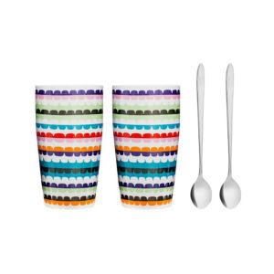 Sagaform Pop Latte Mug with Spoon (2 Pack)