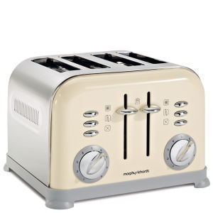 Morphy Richards 4 Slice Accents Toaster - Cream
