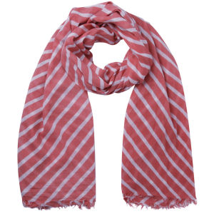 Vero Moda Hilde Long Scarf - Spiced Coral/Snow White