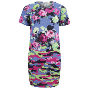Carven Women's Floral Camouflage Dress - Blue