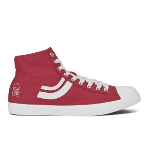 Jack & Jones Men's Camden Hi Top Trainers - Red/White