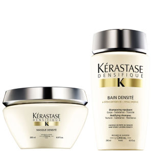 Kérastase Densifique Bain Densite -shampoo (250ml) ja Masque Densite -hiusnaamio (200ml)