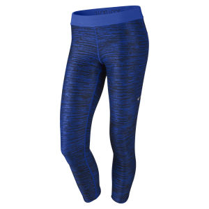 Nike Women's Printed Relay Capri Pants - Cobalt Blue/Black
