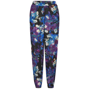 Girls On Film Women's Floral Trousers - Blue