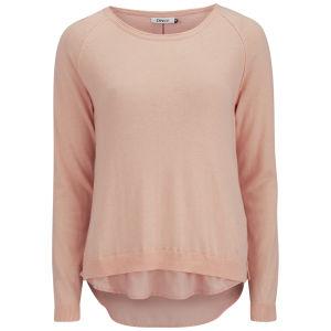 ONLY Women's Lynne Split Back Sweatshirt - Peach Melba