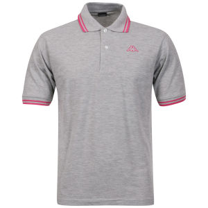 Kappa Men's Lamot Polo - Grey/Fuchsia