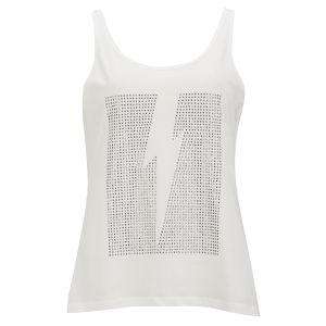 Vero Moda Women's Studded Lightning Top - White