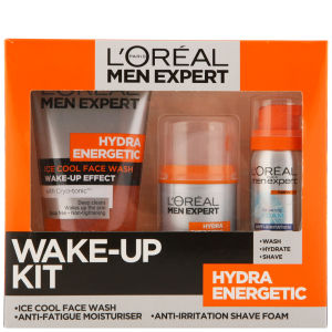 L'Oreal Paris Men Expert Hydra Energetic Skin Wake-Up Kit (3 Products)