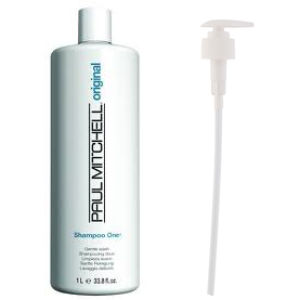 Paul Mitchell Shampoo One (1000ml) with Pump (Bundle)