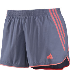 Adidas Women's Adizero Split Short - Shade Grey/Red Zest