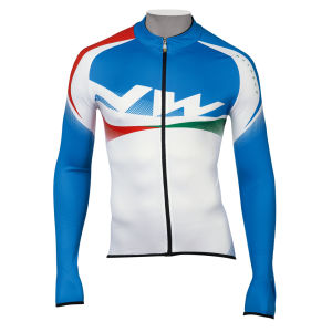 Northwave Extreme Graphic Jersey LS - White/Blue