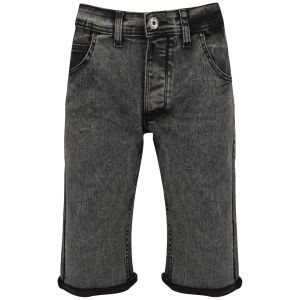 Soul Star Männer Denim Shorts - Grau