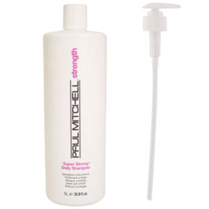 Paul Mitchell Super Strong Daily Shampoo (1000ml) with Pump (Bundle)