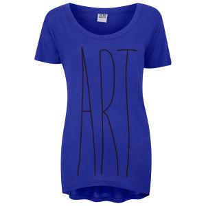 Vero Moda Women's Slogan T-Shirt - Clematis Blue