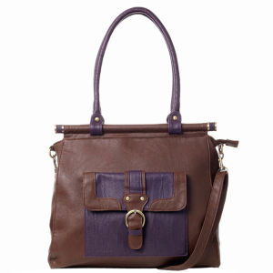 Stylist Pick 'Wilma' Colour block frame Bag - Brown