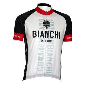 Bianchi Edoardo1 Short Sleeve Jersey - White/Black