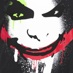 DC Comics Men's Joker Big Face T-Shirt - Black : Image 3