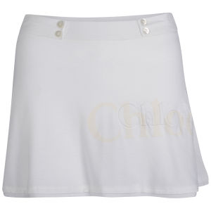 Chloe Women's Short Jersey Skirt - White