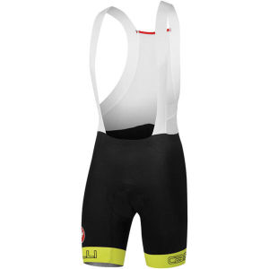 Castelli Bodypaint 2.0 Bib Shorts - Black/Yellow Fluo