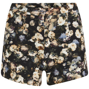 Lavish Alice Women's Dark Floral Shorts - Multi
