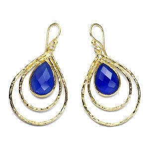 Ashiana Teardrop Hoop Earrings - Iolite