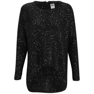 Vero Moda Women's Zahra Sequin Knitted Jumper - Black