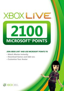 Xbox Live 2100 Pts card