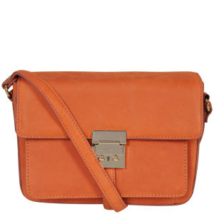 French Connection Conville Leather Cross Body Bag - Orange Peel