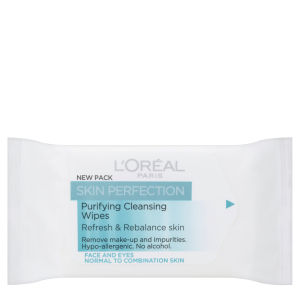L'Oreal Paris Skin Perfection Purifying Cleansing Wipes - Normal to Combination Skin