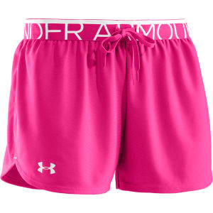 Under Armour Women's Play Up Shorts - Pink Adelic/White