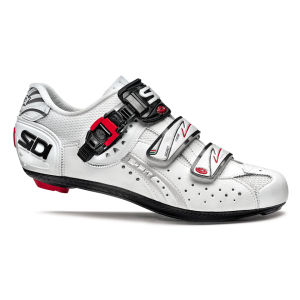Sidi Genius 5 Fit Carbon Cycling Shoes - White
