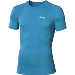 Asics Men's Short Sleeve Running Top - Atlantic Blue