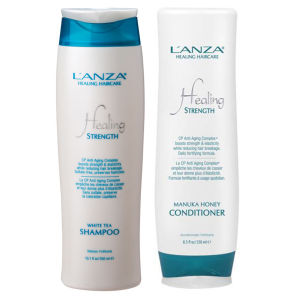 L'Anza Healing Strength Anti Ageing Duo (Worth £50)