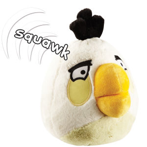 Angry Bird 8 Inch Large Plush With Sound - White