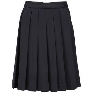 Wood Wood Women's Jodie Pleated Skirt - Dark Navy