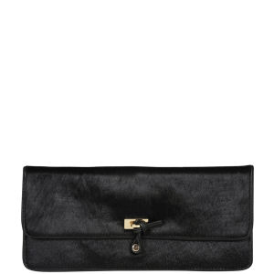 French Connection Winter Flash Pony Club Leather Clutch