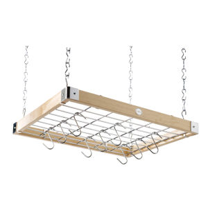 Hahn Square Ceiling Rack - Natural Wood