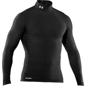 Under Armour Men's Coldgear Mock Compression Long Sleeve Top - Black/White