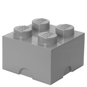LEGO Storage Brick Box 4 - Medium Stone Grey