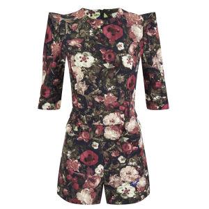 Lavish Alice Women's Dark Floral Playsuit - Multi