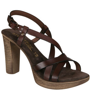 Stylist Pick 'Crimson' Women's Leather Sandal - Brown