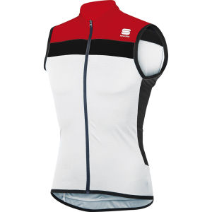 Sportful Pista Sleeveless Jersey - White/Red/Black