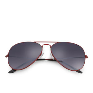 Eyecatcher Women's Coloured Aviator Sunglasses - Red