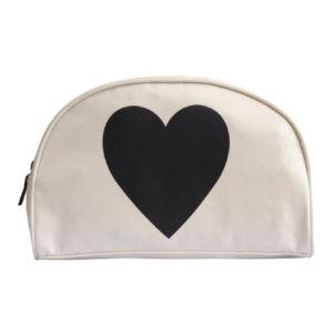 Alphabet Bags Black Heart Wash Bag