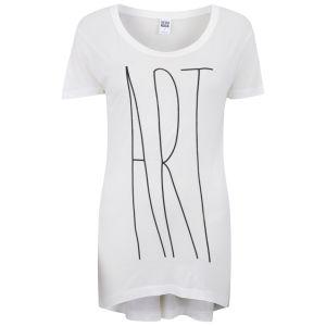 Vero Moda Women's Slogan T-Shirt - Snow White