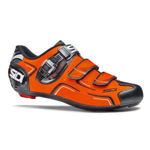 Sidi Level Cycling Shoes - Black/Orange Fluo