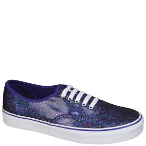 Vans Authentic Iridescent Glitter Trainers - Blue/True White