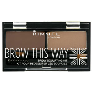 Kit de cejas Brow This Way de Rimmel - Marrón Medio