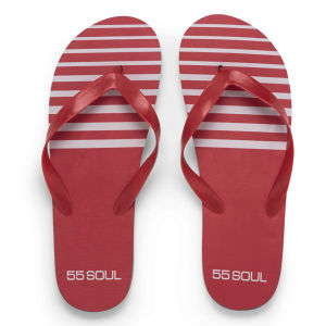 60 Soul -Homme - Tongs Rouge