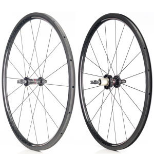 Deda Carbon Tubular 30mm Wheelset - Black on Black